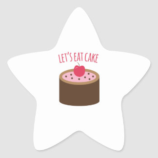Cake_Lets Eat Cake Star Sticker