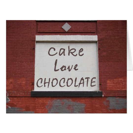 Cake Love Chocolate Graffiti BIG card