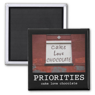 Cake Love Chocolate Graffiti Motivational magnet