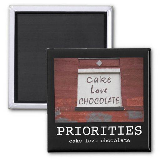 Cake Love Chocolate Graffiti Motivational magnet