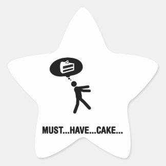 Cake Lover Star Sticker