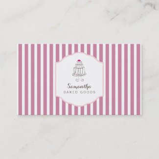 Cake maker business card