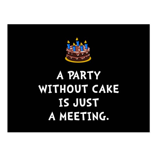 Cake Meeting Postcard