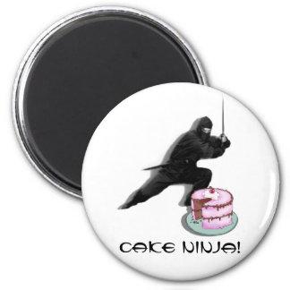 Cake Ninja! 2 Inch Round Magnet
