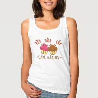 Cake or Bacon - Lifes Biggest Decision Tank Top