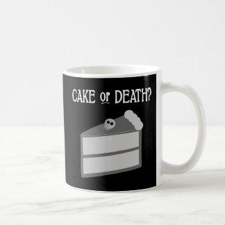 Cake or Death? Basic White Mug