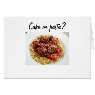 CAKE OR PASTA BIRTHDAY CARD