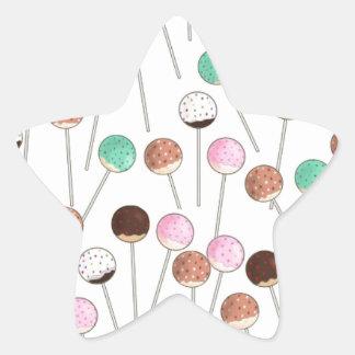 Cake Pop Design Star Sticker