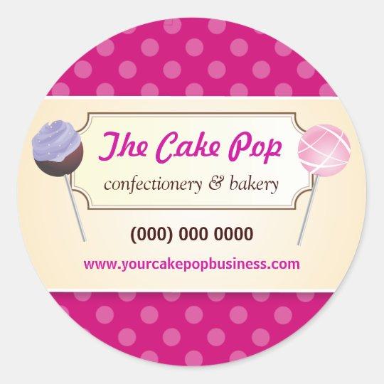 Cake Pop Dots Promotional Sticker
