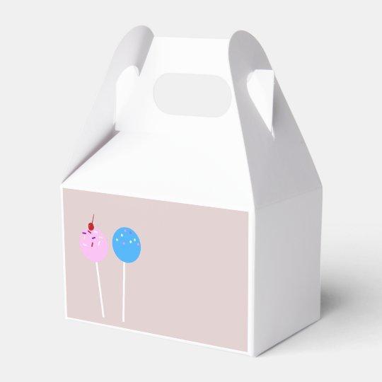 Cake Pop Treat Box Wedding Favor Box