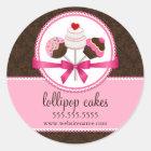 Cake Pops Bakery Box Seals