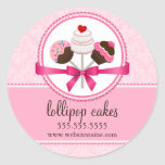 Cake Pops Bakery Box Seals Sticker