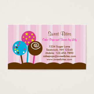 Cake Pops Bakery Business Card