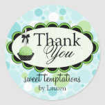 Cake Pops Bakery Thank You Stickers