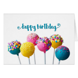 Cake Pops Birthday Card
