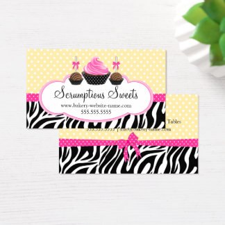 Cake Pops Cupcake Bakery Business Card