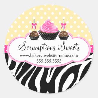 Cake Pops Cupcake Bakery Stickers