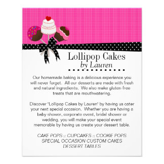 Cake Pops Hot Pink with Photo Frames Flyer