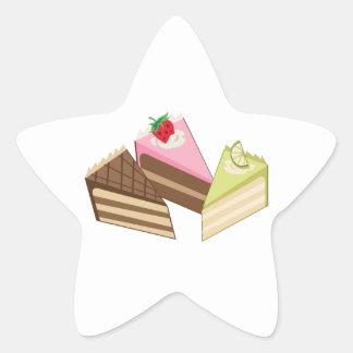 Cake Slices Star Sticker