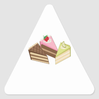 Cake Slices Triangle Sticker