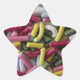 cake sprinkles star sticker