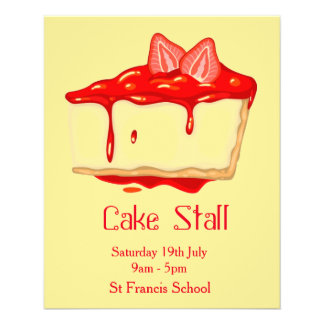 Cake Stall Bake Sale advertisement Flyer