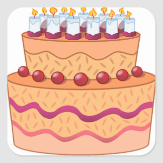 Cake stickers - rounded corners