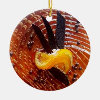 Cake top baking round ceramic ornament