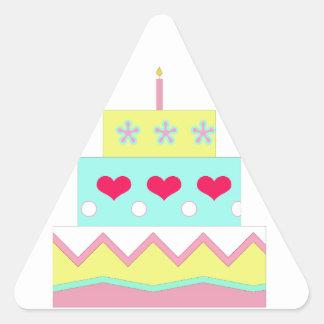 Cake! Triangle Sticker