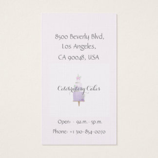 Cake water color Business Card
