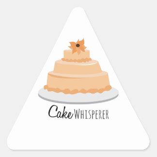 Cake Whisperer Triangle Sticker