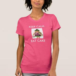 Cake Woman Keep Calm Tee Shirts