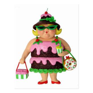 Cake Woman Postcard