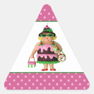 Cake Woman Triangle Sticker