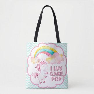 CakePop the Unicorn Chevron Tote Bag