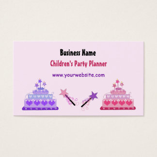Cakes and Wands Children's Party Planner Business Card