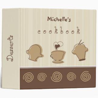 Cakes & Desserts Cookbook Binder