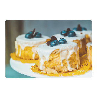 Cakes with Berries Photo Laminated Place Mat