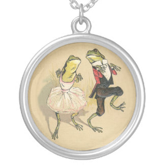 Cakewalk Frogs Silver Plated Necklace