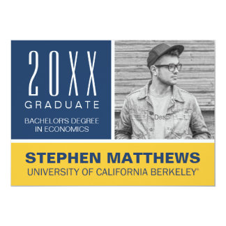 Cal Berkeley Graduation Announcement