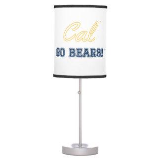 Cal Go Bears!: UC Berkeley Lamp, White Table Lamp