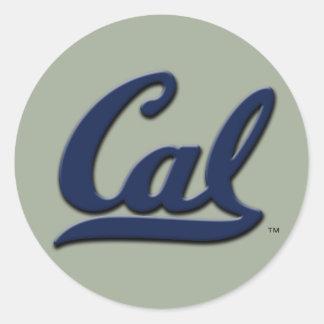 Cal Logo Classic Round Sticker