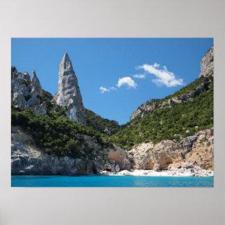 Cala Goloritze beach, Sardinia poster