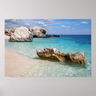 Cala Mariolu beach, Sardinia poster