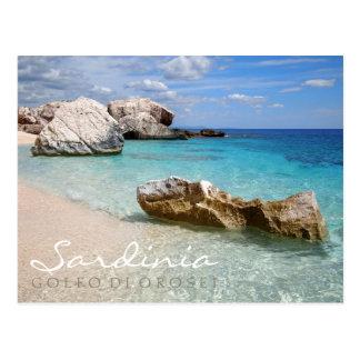 Cala Mariolu beach, Sardinia text postcard