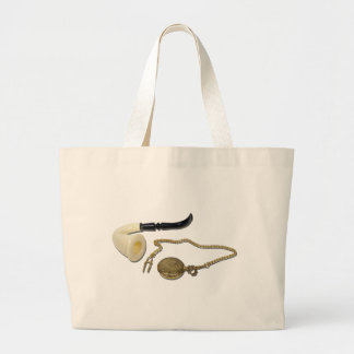 CalabashPipePocketWatch102410 Large Tote Bag