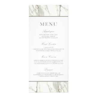 Calacatta Marble Frame   Elegant Wedding Menu Rack Card Design