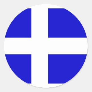 Calais, France flag Classic Round Sticker