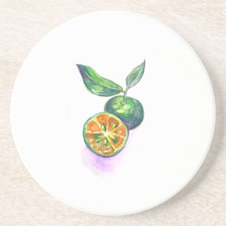Calamansi Philippine lemon citrus coaster