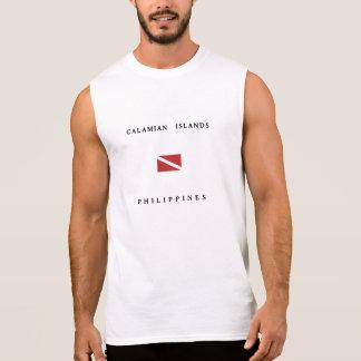 Calamian Islands Philippines Scuba Dive Flag Sleeveless Shirt